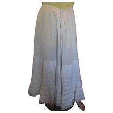 White Cotton Victorian Lawn Skirt