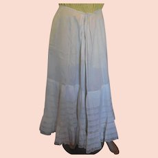 White Cotton Victorian Lawn Skirt