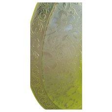 Vintage Yellow Vaseline Glass Platter