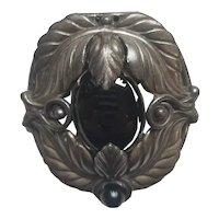 Stunning Art Nouveau Fur Clip