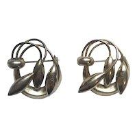 Antique Art Nouveau 1910 Gold Metal Pins