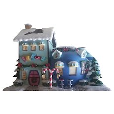 Vintage Rudolph's Christmas Lighted Houses - Cocoa Cafe