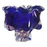 Amazing Hand Blown Vintage Cobalt Blue Bowl