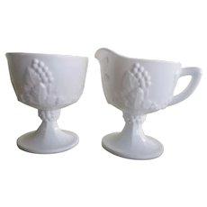 Vintage Indiana Milk Glass Pitchers & Bowls
