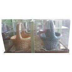 Vintage Mini Porcelain Baskets