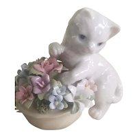 Vintage Hallmark Porcelain Kitten