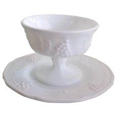Vintage Indiana Milk Glass Sherbert Sets