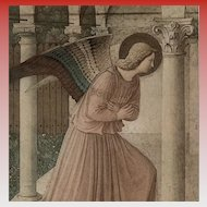 Vintage Angel Gabriel Art Postcard  by Early Italian Renaissance painter Fra Angelico