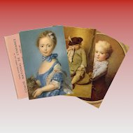 3 Vintage Fundraiser Art Postcards from the French National Children's Committee
