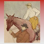 "Toulouse-Lautrec's ""The Jockey"" Lithograph French Museum Postcard Unused"