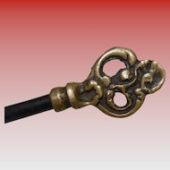 Vintage French Cabinet or Furniture Key with Ornate Artistic Handle