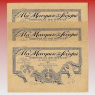 Marquise de Sévigné Paris Chocolates Advertising Card Art Nouveau with Cherubs