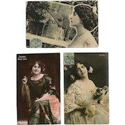 Three Belle Epoque Celebrities: Cavalieri, De Dio, Maria Labia