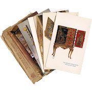 Tuck's Postcard Series Set Two Queen's Dolls' House Drawing Room Library Piano Red Oriental Cabinet