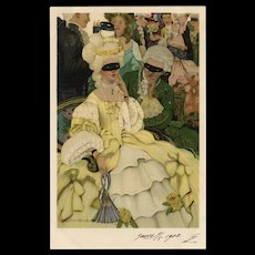 Golden Age of Illustration Artist Ethel Franklin Betts Postcard from Polish Count's Collection