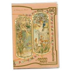 1988 Art Nouveau Menu from Iconic Paris Restaurant Le Grand Café Capucines