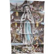 Ten Antique Postcards of Bernadette's Life Form Puzzle of Virgin Mary