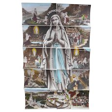 Ten Antique Postcards of Bernadette's Life Form Puzzle of Virgin Mary