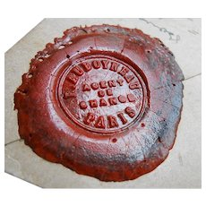 Vintage French Letter with Five Wax Seals Auboyneau Paris Stockbroker