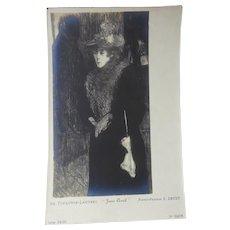 Toulouse-Lautrec's Jane Avril Reproduction by Renown Parisian Gallery Owner and Photographer Eugène Druet