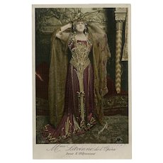 Opera Star in Exotic African Queen Costume Manuel of Paris Real Photo Postcard Near Mint Condition