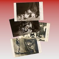 Cats and Kittens 4 Art Reproduction Postcards Salon de Paris