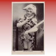 Antique Rapid Photo Go of London Postcard of Actress Sybil Arundale as Arlequin Jester