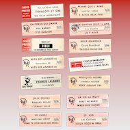 LAST CHANCE: 14 Original Retro French Jukebox Song Labels Circa 1970-1980s