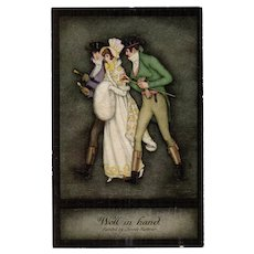 Jennie Harbour Tuck's Oilette De Luxe Early Victorian Series Well in Hand Lady and Two Beaus