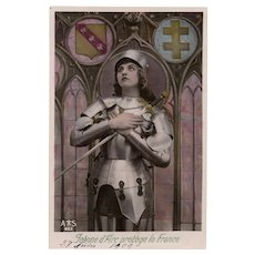 Joan of Arc Protector of France 1909 RPPC