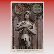 Joan of Art Protector of France 1909 RPPC