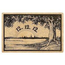 Philatelic Historical Franking German Postcard: 12 12 12 12