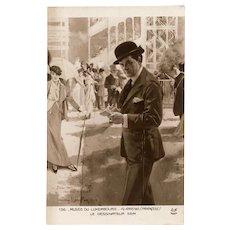1913 Portrait of Famous French Artist at Ascot by SEM Noyer of Paris Postcard