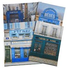 5 Paris Shop Fronts by Renoux: Babies, Dolls, Perfume, Coiffure