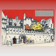 Novelty Scratch Off History Postcard Cluny Museum and Hotel of Paris