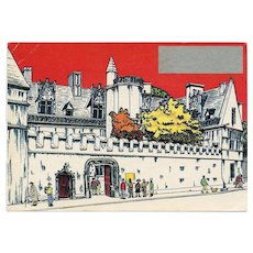 LAST CHANCE Novelty Scratch Off History Postcard Cluny Museum and Hotel of Paris