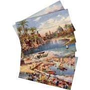Five Tuck Oilette Postcards of Nice, France from 1918 Henry Wimbush Artist Signed