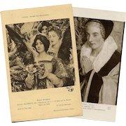 Two Edgard Maxence Antique French Religious Postcards Salon de Paris and Nantes Musee de Beaux Arts