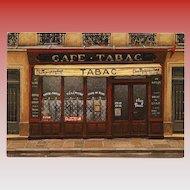 Cafe Tabac Chez Paul's Paris Shop Front by French Painter André Renoux