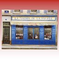 La Maison de la Poupée Corolle Dolls Storefront Vintage Postcard Artist Signed André Renoux