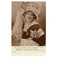 France Honoring US Independence July Fourth Salon de Paris Newspaper Seller by Achille-Fould