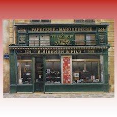 Biberon & Fils Storefront by French Painter André Renoux Unused Vintage Postcard