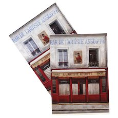 Bar of the Thirsty Artist by French Painter André Renoux Vintage Postcard 1994