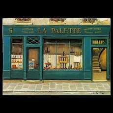 La Palette Artist Shop by French Painter André Renoux Unused Vintage Postcard