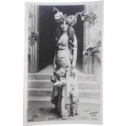 Pre-1904 Unused French Postcard Belle Epoque Actress de Buffon Real Photo by Reutlinger of Paris