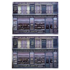 Oldest Chocolate Shop in Paris Storefront by French Painter André Renoux Unused Vintage Postcard c1980s-1990s