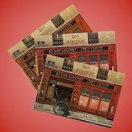 Bon Bougnat Woodfire and Spirits Paris Shop by French Painter André Renoux Unused Vintage Postcard c1980s-1990s