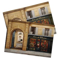 Hunter's Antique Store by French Painter André Renoux Unused Vintage Postcard