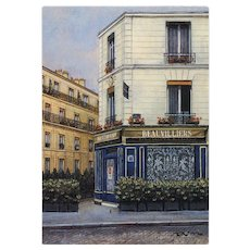 Beauvilliers Restaurant in Paris by French Painter André Renoux Vintage Postcard