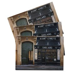 Saillard Maison Paris Storefront by French Painter André Renoux Unused Vintage Postcard